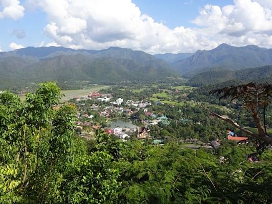 The city view from Wat Prathat Doi Kong Mu