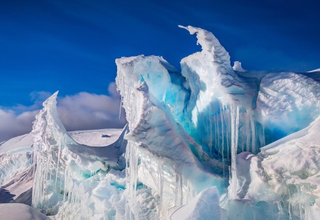 Ice towers of antarctica